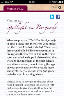 Wine Navigator® 'What's New'